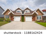 residential duplex house with... | Shutterstock . vector #1188162424
