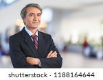 mature confident businessman on ... | Shutterstock . vector #1188164644