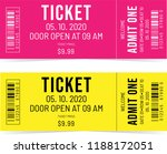 colorful tickets. event... | Shutterstock .eps vector #1188172051