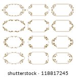 set of ornate floral vector... | Shutterstock .eps vector #118817245