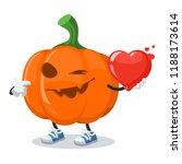 cartoon halloween pumpkin...   Shutterstock .eps vector #1188173614