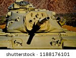 M60a3 U.S. Army tank at the General Patton Memorial Museum at Chiriaco Summit in the California desert.