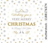 merry christmas   wishes with... | Shutterstock .eps vector #1188176374