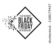black friday sale abstract... | Shutterstock .eps vector #1188179437