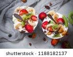nutrition yoghurt fruit dessert ... | Shutterstock . vector #1188182137