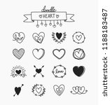 heart doodle element in black... | Shutterstock .eps vector #1188183487