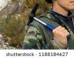 geologist outdoor holds a... | Shutterstock . vector #1188184627
