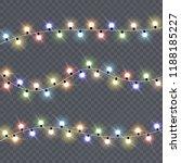 christmas lights isolated on... | Shutterstock .eps vector #1188185227