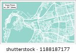 cape town south africa city map ... | Shutterstock .eps vector #1188187177