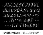 handwritten silver script for... | Shutterstock .eps vector #1188191224