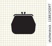 purse icon vector. money sign...