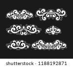 set of vintage calligraphic... | Shutterstock .eps vector #1188192871