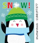 cute penguin  cute christmas... | Shutterstock .eps vector #1188197377