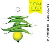 Nimbu Mirch Vector Art