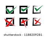 check mark and cross element on ...   Shutterstock .eps vector #1188209281