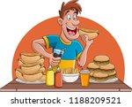cartoon man people eating junk... | Shutterstock .eps vector #1188209521