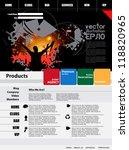 website design template. vector. | Shutterstock .eps vector #118820965