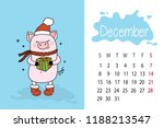 december month 2019 year... | Shutterstock .eps vector #1188213547
