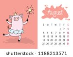 august month 2019 year calendar ... | Shutterstock .eps vector #1188213571