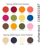spring   summer 2019 color... | Shutterstock .eps vector #1188222187