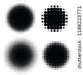 halftone patterns set. halftone ... | Shutterstock .eps vector #1188223771