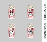 set of popcorn expression is... | Shutterstock .eps vector #1188227941