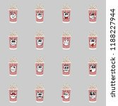 set of popcorn expression is... | Shutterstock .eps vector #1188227944