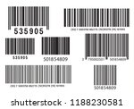 realistic bar code icon. a... | Shutterstock .eps vector #1188230581