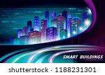 smart city 3d neon glowing... | Shutterstock .eps vector #1188231301