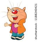 illustration of a cute cat....   Shutterstock . vector #1188240421