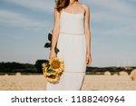 woman's silhouette in a summer...   Shutterstock . vector #1188240964