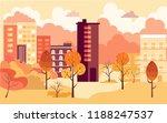 flat cartoon style vector... | Shutterstock .eps vector #1188247537
