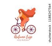autumn trip.flat girl riding a...   Shutterstock .eps vector #1188247564