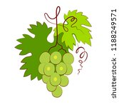 bunch of grapes with leaf... | Shutterstock .eps vector #1188249571