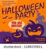 halloween flyer  vector | Shutterstock .eps vector #1188255811