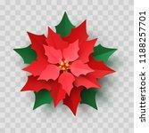 vector red christmas poinsettia ... | Shutterstock .eps vector #1188257701