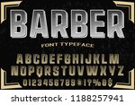 hand drawn typeface set brush... | Shutterstock .eps vector #1188257941