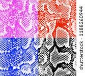 chic checks effect snake skin...   Shutterstock . vector #1188260944