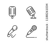 thin line microphone icons set... | Shutterstock .eps vector #1188261034