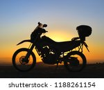 motorcycle and sunrise | Shutterstock . vector #1188261154