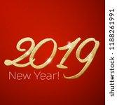 happy new year 2019 | Shutterstock .eps vector #1188261991