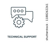 technical support outline icon. ...