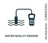 water quality sensor icon....