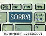 text sign showing sorry.... | Shutterstock . vector #1188263701