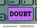 text sign showing doubt....   Shutterstock . vector #1188263914