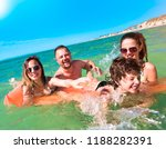 happy family with children is... | Shutterstock . vector #1188282391