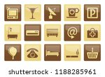 hotel and motel icons over... | Shutterstock .eps vector #1188285961