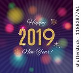 2019 happy new year and merry... | Shutterstock .eps vector #1188287761