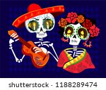 day of the dead postcard vector ... | Shutterstock .eps vector #1188289474