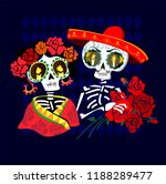 day of the dead postcard vector ... | Shutterstock .eps vector #1188289477